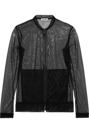 Jil Sander Stretch-tulle bomber jacket