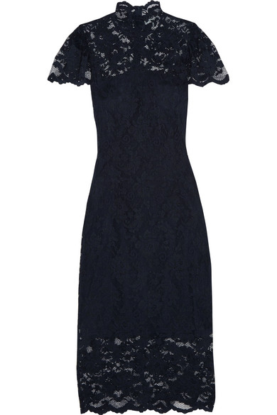 Turtleneck Lace Formal Dress