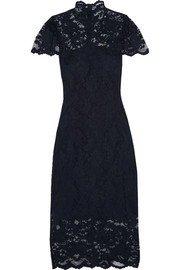 GANNI Flynn stretch-lace turtleneck dress