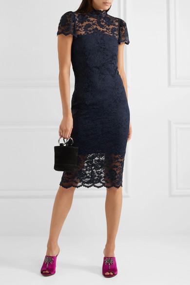 1b53d8c7 GANNI | Flynn stretch-lace turtleneck dress | NET-A-PORTER.COM