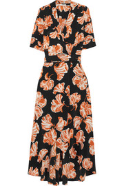 GANNI Geroux floral-print silk crepe de chine wrap dress