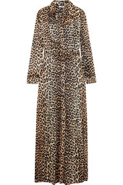 Dufort leopard-print silk-blend satin maxi dress