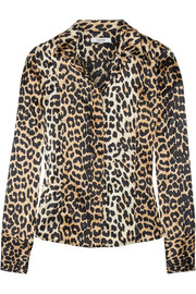 Dufort leopard-print silk-blend shirt