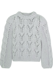 GANNI Faucher mohair and wool-blend sweater