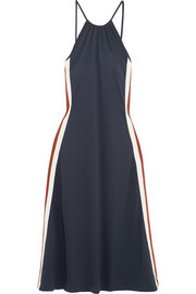 GANNI Dubois Polo striped jersey halterneck midi dress
