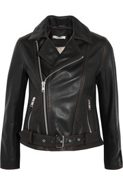 Tatin leather biker jacket