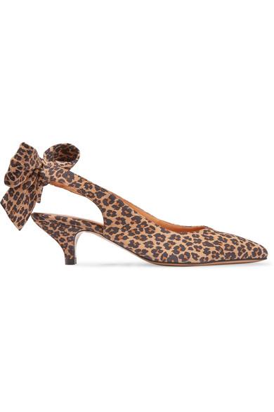 a659e03368f GANNI. Sabine leopard-print suede slingback pumps