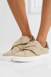 Burberry Knotted gabardine slip-on sneakers
