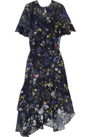 Annabel floral-print devoré silk-blend chiffon midi dress
