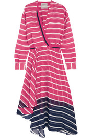 Flintoff striped silk-chiffon dress