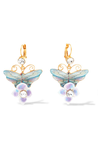 Dolce & Gabbana - Gold-plated Swarovski Crystal Earrings