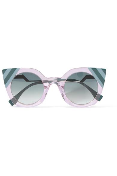 Fendi - Cat-eye Acetate Sunglasses - Blue at NET-A-PORTER