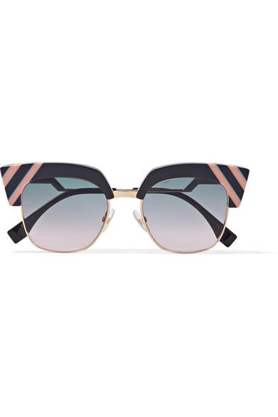 Fendi - Cat-eye Acetate And Gold-tone Sunglasses - Dark gray at NET-A-PORTER