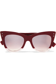 Cat-eye two-tone acetate sunglasses