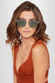 Jacinto cat-eye acetate and gold-tone sunglasses