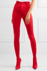 Stretch-satin skinny pants