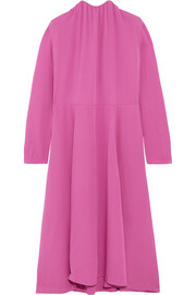 Balenciaga Split-side silk-georgette midi dress