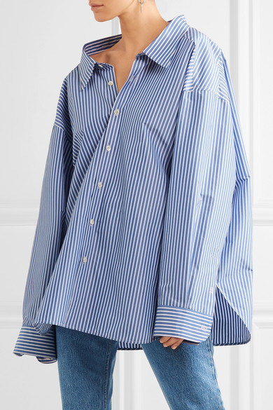 striped blouse - Blue Balenciaga Order Cheap Price vzjuWXT