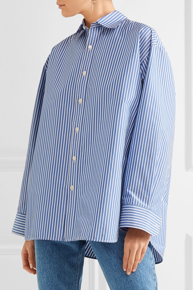 striped blouse - Blue Balenciaga Clearance Latest Collections Genuine Sale Online mYrCtoN