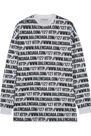 Balenciaga Oversized printed cotton-jersey sweatshirt