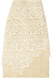 Balenciaga Layered guipure lace skirt