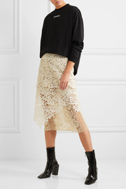 Layered guipure lace skirt