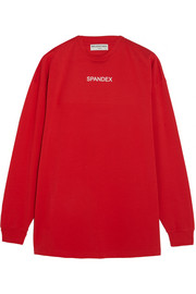 Balenciaga Oversized printed stretch-cotton jersey sweatshirt