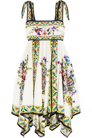Dolce & Gabbana Floral-print silk-twill dress