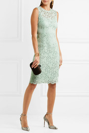 Dolce & Gabbana Corded cotton-blend lace dress