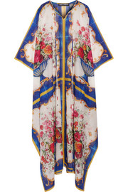 Dolce & Gabbana Printed cotton and silk-blend kaftan
