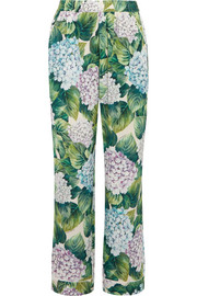 Ortensia floral-print silk-blend charmeuse wide-leg pants