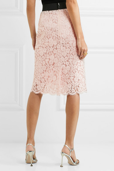 Dolce & Gabbana Midirock aus schnurgebundener Spitze aus einer Baumwollmischung Spielraum Billig H7wpBdj0