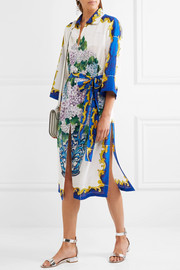 Dolce & Gabbana Printed silk crepe de chine shirt dress