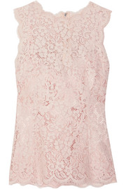 Dolce & Gabbana Corded cotton-blend lace top