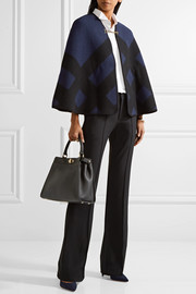 Burberry Checked wool and cashmere-blend cape