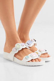 Sophia Webster Becky crystal-embellished leather sandals