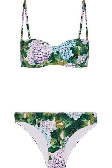 c517b389af Dolce   Gabbana. Floral-print bikini