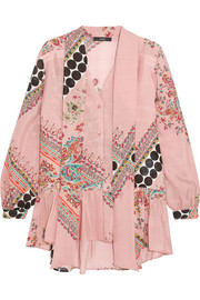 Etro Pussy-bow printed silk blouse