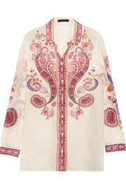 Etro Printed silk and cotton-blend shirt