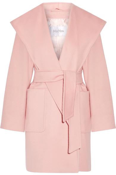 Max Mara - Morfeo Hooded Camel Hair Coat - Pastel pink