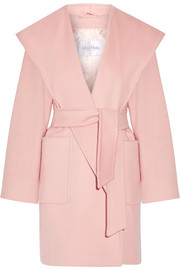 Morfeo hooded camel hair coat