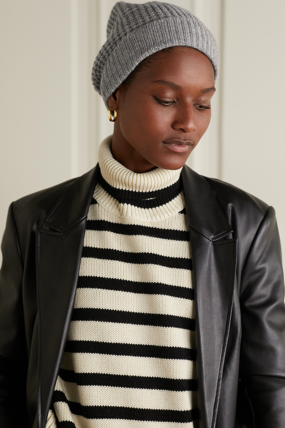 Madeleine Thompson Holby 华夫格针织羊绒毛线帽
