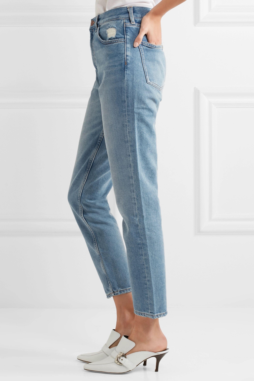 M.i.h Jeans Mimi 仿旧高腰九分窄腿牛仔裤