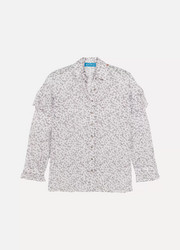 Baylis ruffled floral-print cotton-voile shirt