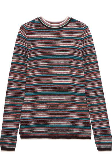 M.i.h Jeans - Moonie Striped Merino Wool Sweater - Blue