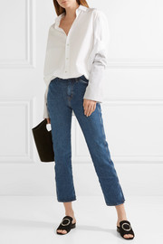 M.i.h Jeans Cult cropped high-rise straight-leg jeans
