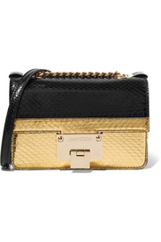 Jimmy Choo Rebel Soft Mini metallic elaphe shoulder bag