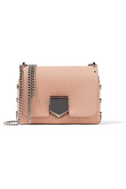 Jimmy Choo Lockett Petite textured-leather shoulder bag
