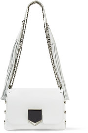 Jimmy Choo Lockett Petite tasseled leather shoulder bag