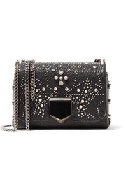 Jimmy Choo Lockett Petite studded textured-leather shoulder bag